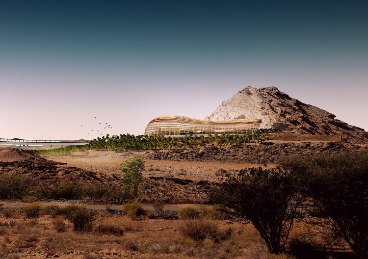 Khu vườn tọa lạc dưới chân núi Al Hajar ở Sultanate