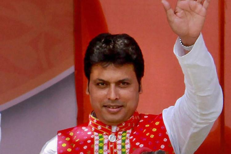 Thống đốc bang Tripura Biplab Deb.