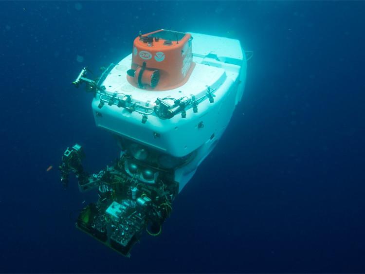 Tàu lặn Alvin trong một chuyến xác minh khoa học tại Vịnh Mexico hồi năm 2014.