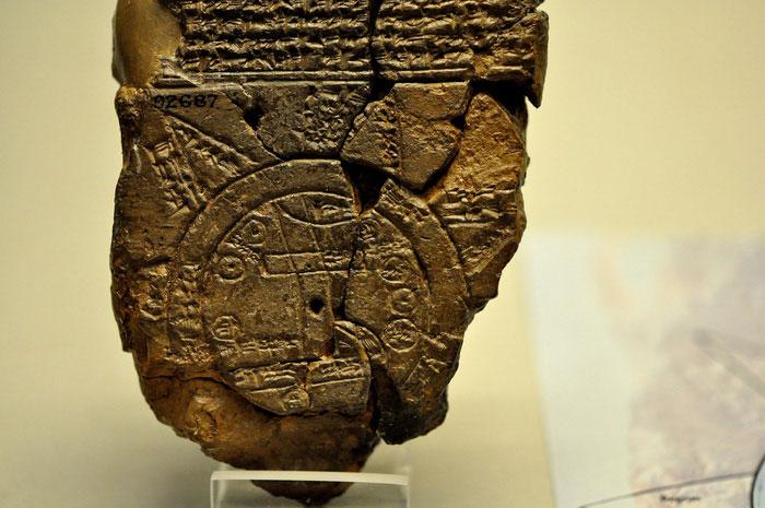 Một phần trong tấm bản đồ thế giới của người Babylon cổ đại