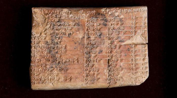 Bảng đất sét 3.700 của người Babylon cổ đại ghi chép nhiều phương pháp tính toán.
