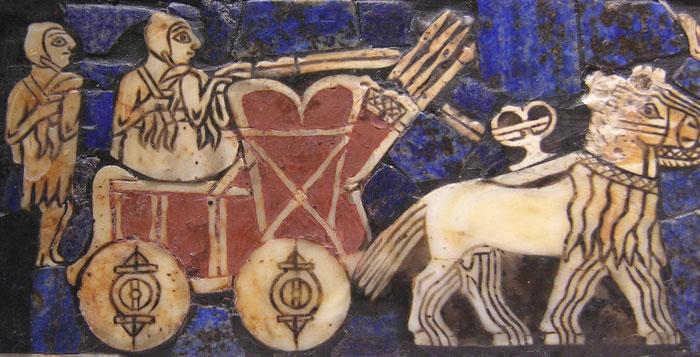 Bức họa một chiếc chiến xa của người Sume những năm 2500 TCN