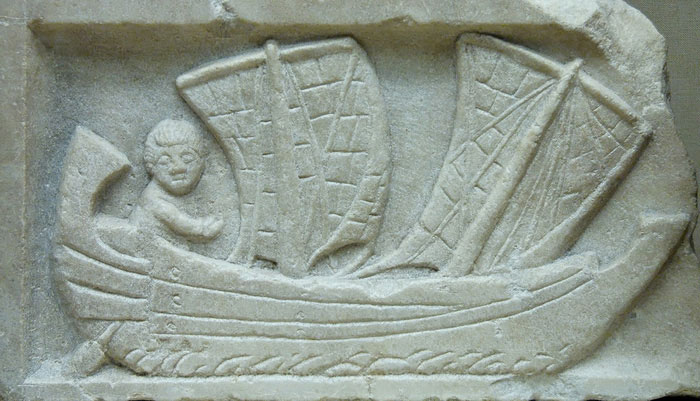 Thuyền buồm của người Lưỡng Hà cổ đại