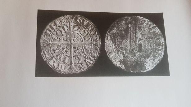 Hình ảnh đồng bạc 4 xu từ thời Vua Edward I