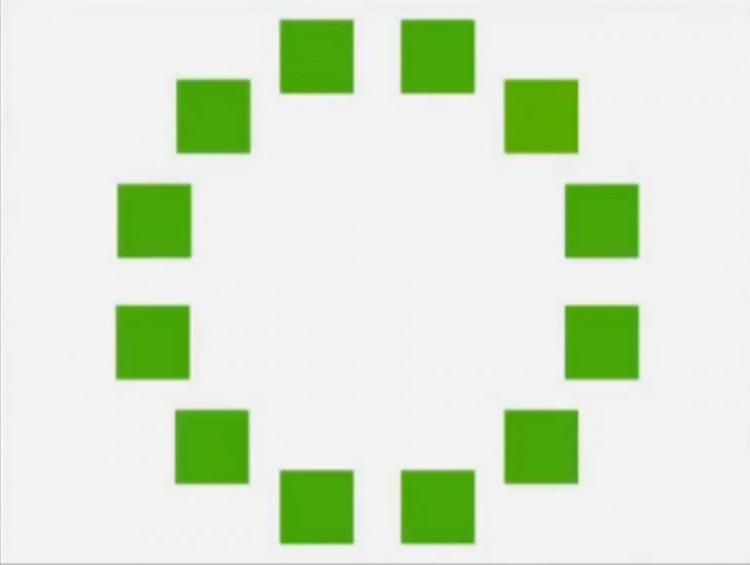 Thí nghiệm phân biệt các sắc thái xanh lá.