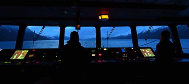Bức ảnh này được chụp trên cây cầu Australis tại điểm khởi đầu của hành trình khám phá Patagonia..