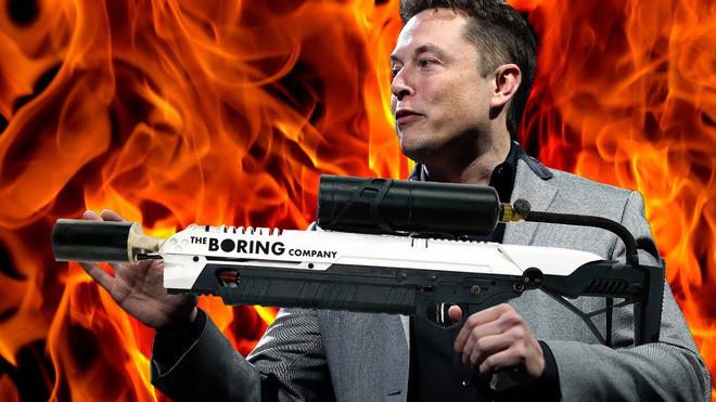 Khẩu súng phun lửa của The Boring Company cũng sẽ được sử dụng cho con rồng máy của Elon Musk?