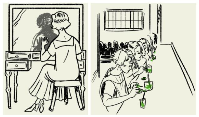 Nhiều công nhân là phụ nữ trẻ đã ngồi cả ngày để sơn mặt và kim đồng hồ.