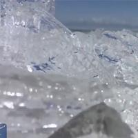 Hiện tượng 'sóng băng' ở hồ núi cao lớn nhất Tân Cương