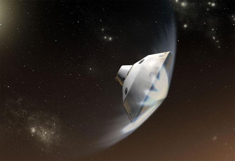 NASA dự định đưa xe thám hiểm với tấm chắn bảo vệ đáp xuống hành tinh đỏ.