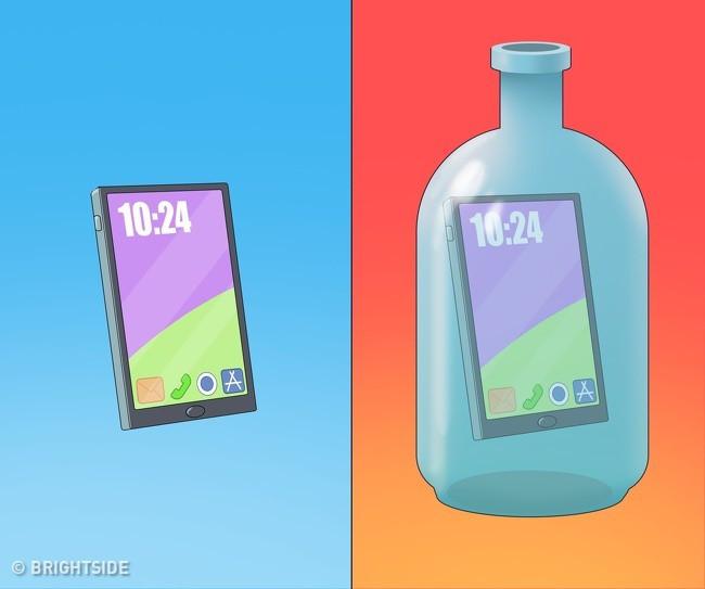 Màn ảo thuật 2: Đưa điện thoại vào trong chai