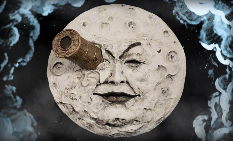 Hình ảnh trong phim A Trip to the Moon của Georges Méliès.