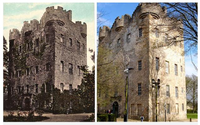 Dám cá nếu vào ngày xưa (ảnh trái), rất ít người dám bén mảng tới lâu đài Alloa.
