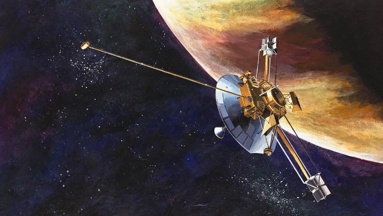 """Tàu Pioneer 10 của NASA – phi thuyền đầu tiên """"ghé thăm"""" sao Mộc."""