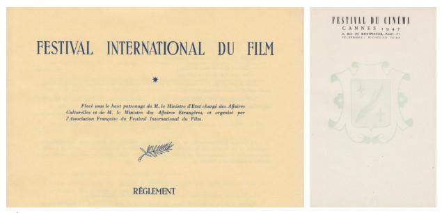 Biểu tượng cành cọ trên các tài liệu chính thức của LHP Cannes.