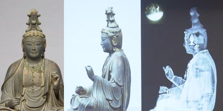 Tượng Văn Thù Bồ Tát ở Bảo tàng Quốc gia Nara.