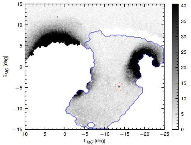 Thiên hà Hydrus 1 có hình elip và mờ nhẹ, nằm cách mặt trời khoảng 90.000 năm ánh sáng.