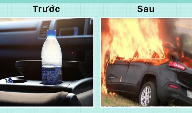 Chỉ một chai nước cũng có thể khiến xe bạn bốc cháy, tin nổi không???