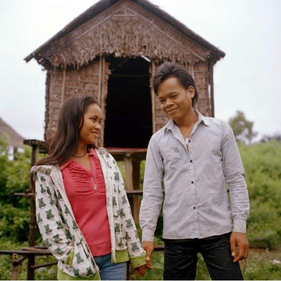 Nang Chan và một người bạn trai.