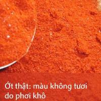 Cách phân biệt bột ớt thật và bột ớt giả