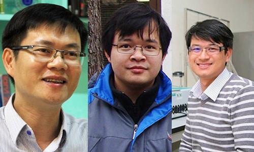 Từ trái qua phải: PGS Hùng, TS Tuấn và TS Phong.
