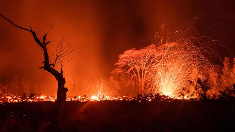 Núi lửa Kilauea đã phun trào từ nhiều khe nứt trong 2 tuần qua.