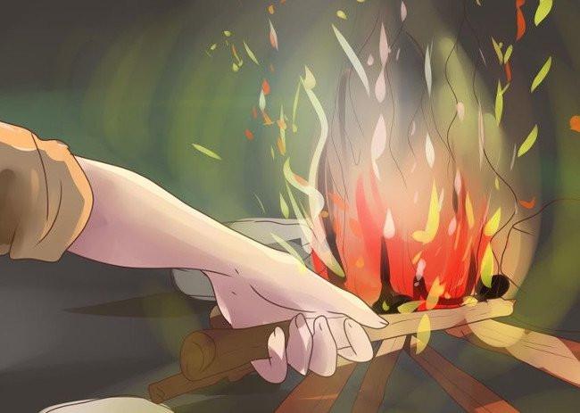 Đốt một đống lửa