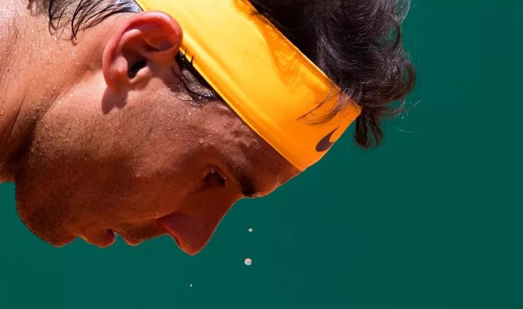 Tay vợt Rafael Nadal tại giải đấu Rolex Monte-Carlo Master 2018.