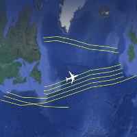 Mạng lưới đường cao tốc vô hình cho máy bay trên Đại Tây Dương