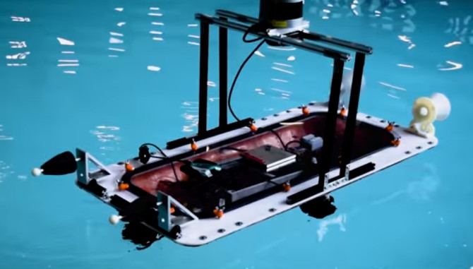 Những chiếc thuyền in 3D này có cấu trúc hình chữ nhật.