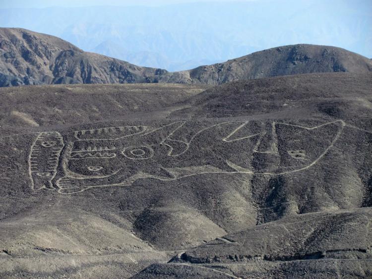 Một hình vẽ khổng lồ ở Palpa, Peru.