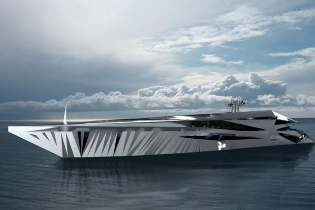 Thân tàu được làm từ nhôm, có độ dài 65 mét