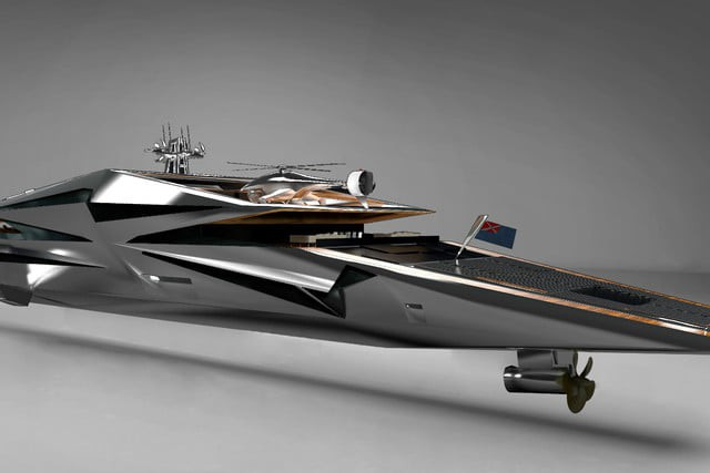 Con thuyền này cũng được thiết kế để hạn chế khả năng bị phát hiện, ít nhất là ở ngoài biển.