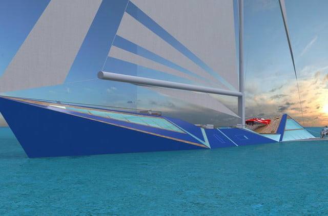Dẫu vậy, khi đậu ở cảng thì nhà thiết kế này muốn tác phẩm của mình phải thực sự nổi bật.