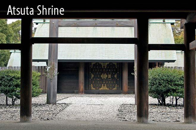 Ngôi đền Atsuta được cho là nơi lưu giữ thanh kiếm báu Kusanagi-no-Tsurugi.
