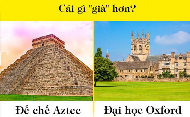 """Đại học Oxford và đế chế Aztec - cái nào """"già"""" hơn?"""