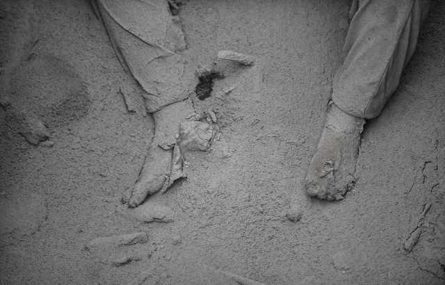 Một nạn nhân chết vì núi lửa phun trào.