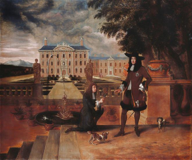 Vua Charles II cùng quả dứa - bức tranh ghi lại vào năm 1675.