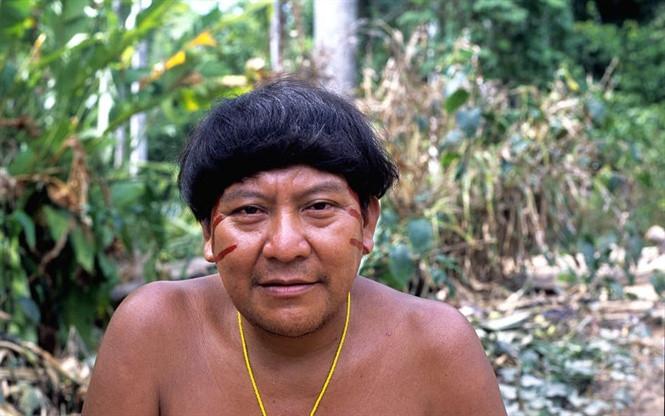 Pháp sư kiêm phát ngôn viên của người Yanomami David Kopenwa.