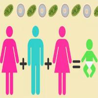 Em bé mang ADN của một ông bố hai bà mẹ