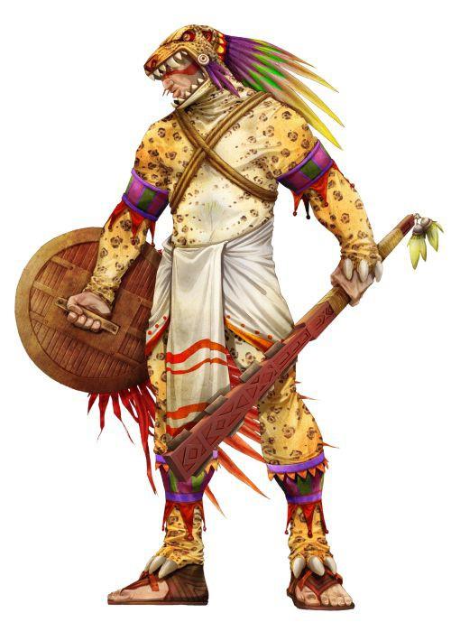 Một chiến binh Aztec