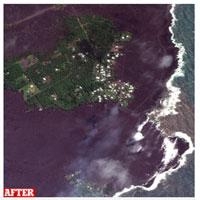 """Núi lửa Kilauea đã giúp Hawaii """"mọc"""" thêm hàng km đất mới"""