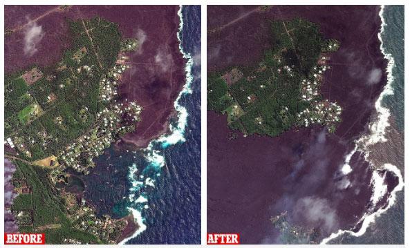 Đảo Lớn giờ đã nở ra thêm vài cây số. Đổi lại, nhiều vùng đất và rừng mưa đã bị nuốt chửng.