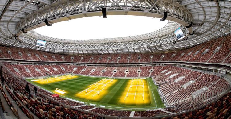 Theo yêu cầu của FIFA sân bóng sẽ được trải cỏ tự nhiên.