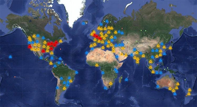 Trong năm 2008, ước tính có 9,5 nghìn tỷ gigabyte được chuyển vào và ra khỏi các máy chủ khắp thế giới.