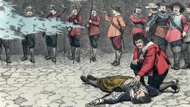 Xử bắn đã được áp dụng suốt hàng trăm năm.
