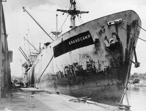 Tàu Grandcamp khi đó chở 2.300 chất cực kỳ dễ nổ.