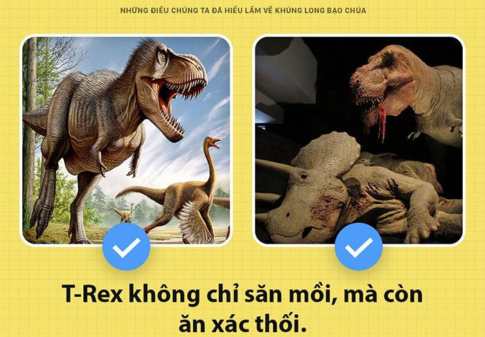 T-rex không chỉ săn mồi mà còn ăn xác thối