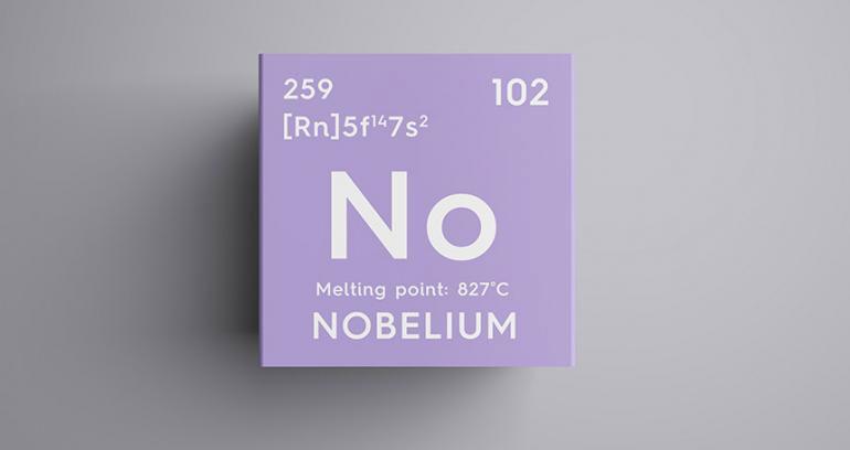 Mỗi hình dạng khác nhau của nguyên tố này chứa 102 proton, nhưng có số neutron khác nhau.