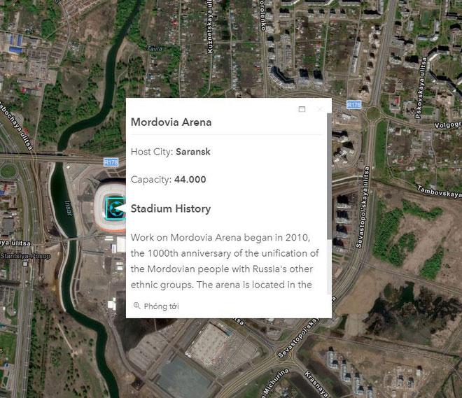 Bản đồ tương tác này sẽ cung cấp những thông tin hữu ích liên quan đến các sân vận động